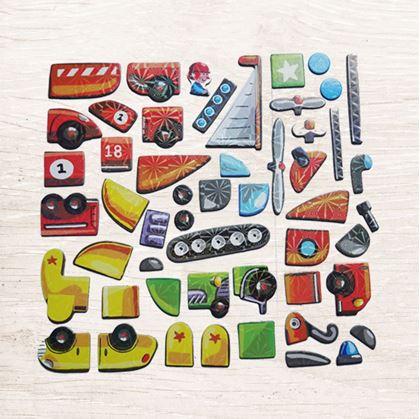 Obrázek z Dřevěná magnetická tabulka deluxe - Dopravní prostředky