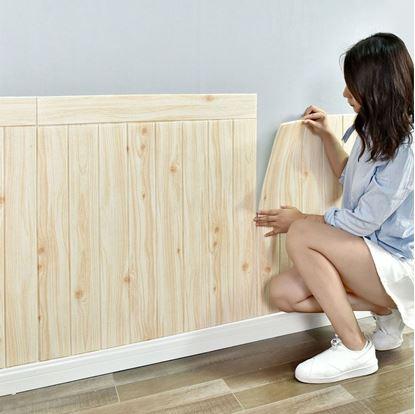 Obrázek 3D tapeta - světlé dřevo 10 ks