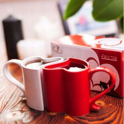 Obrázek z Zamilované hrníčky - bílo-červené