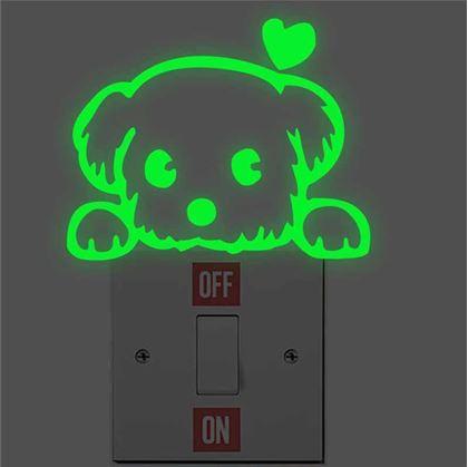 Obrázek z Svítící nálepky nad vypínač - pejsek