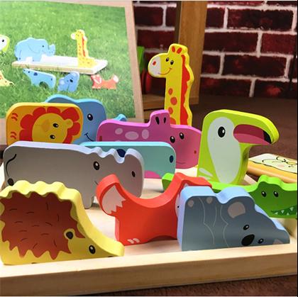 Dřevěné puzzle pro nejmenší