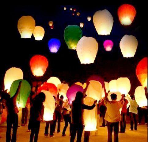 Obrázek z Lampiony štěstí 50 ks mix barev