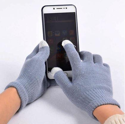 Obrázek z Rukavice pro smartphony - šedé