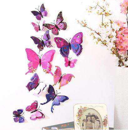 Obrázek 3D motýlci na zeď