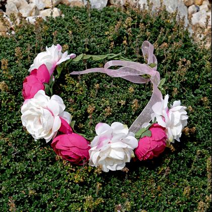 čelenka s květy