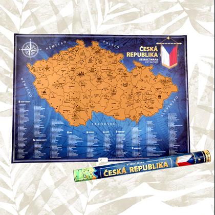 Stírací mapa České Republiky
