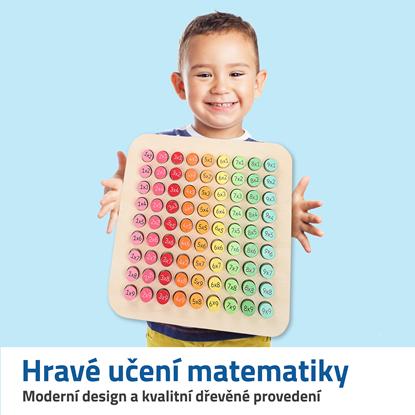 Barevné dřevěné počítadlo pro děti