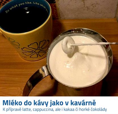 Ruční napěňovač mléka