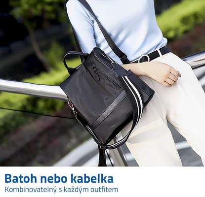 kabelka a batoh 2v1 kožené
