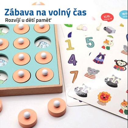 dřevěná hračka pro děti s obrázky
