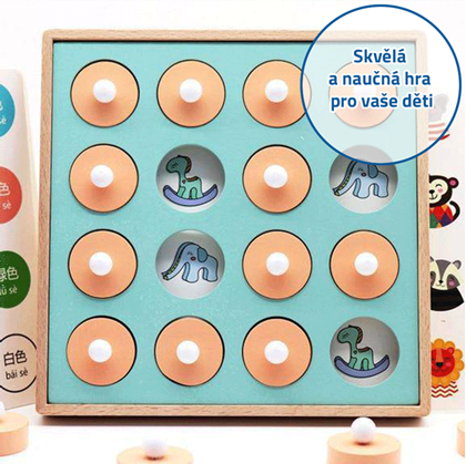 paměťová dřevěná hračka pro děti