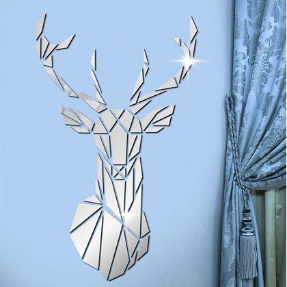 zrcadlové samolepky na zeď