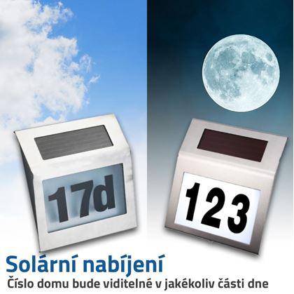 solární číslo na dům