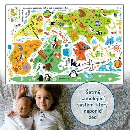 mapy světa pro děti