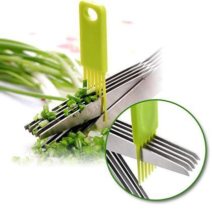 nůžky na bylinky 5 břitů