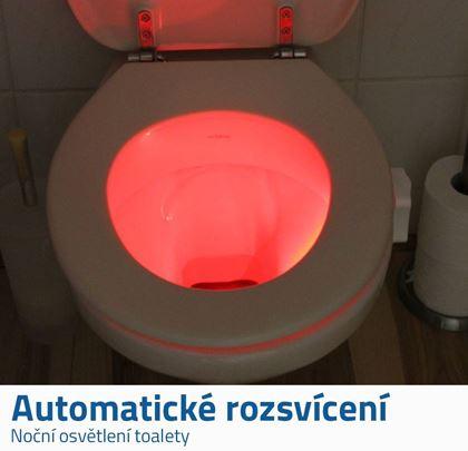 Automatické světlo na wc