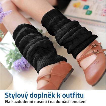 pletené návleky na nohy